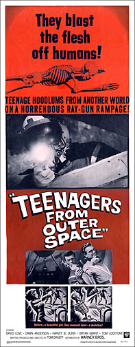 Teenagers From Outer Space 1959 Repro Insert Poster 14X36