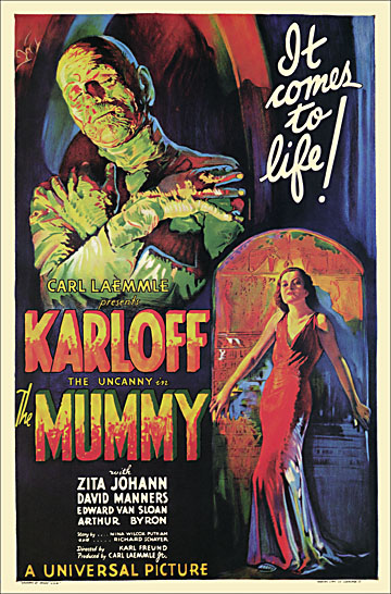 Mummy 1932 One Sheet Reproduction Poster 27X41