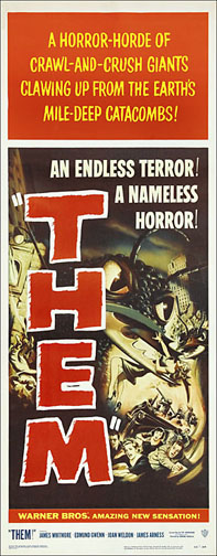 Them 1954 Repro Insert Poster 14X36