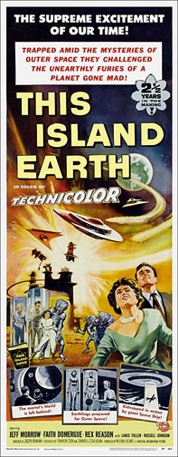 This Island Earth 1955 Repro Insert Poster 14X36