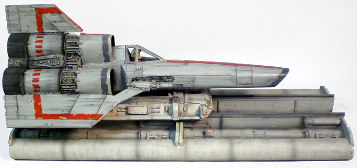 "Battlestar Galactica 1978 Colonial Viper With Launch Ramp Studio Scale 16"" Model Kit - Click Image to Close"
