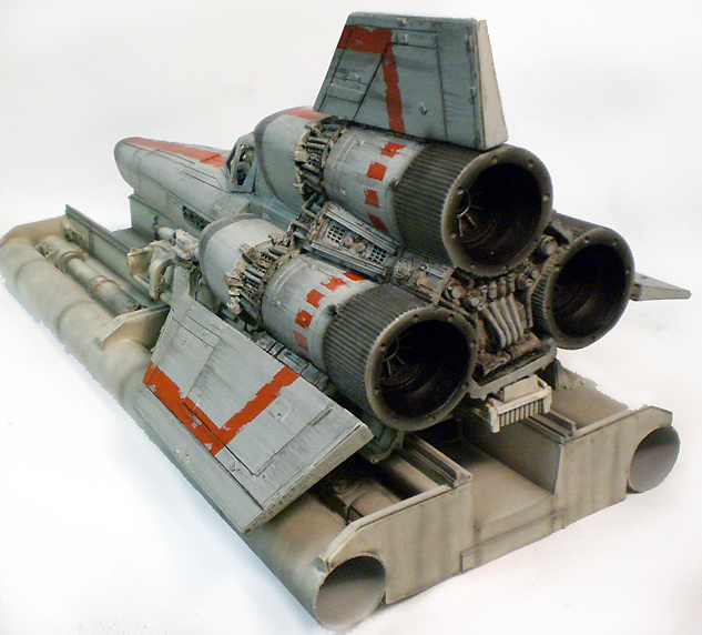 "Battlestar Galactica 1978 Colonial Viper With Launch Ramp Studio Scale 16"" Model Kit"