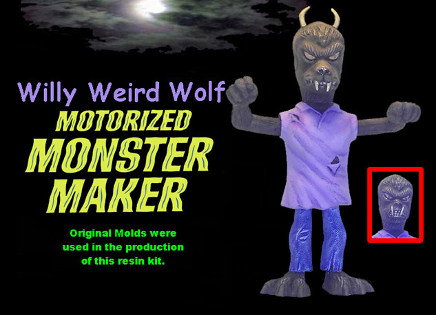 Motorized Monster Maker Willy Weird Wolf Model Kit Topper