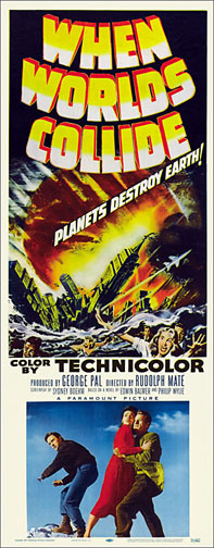 When Worlds Collide 1951 Repro Insert Poster 14X36