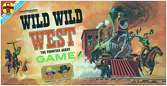 Wild Wild West 1966 Board Game Reproduction Box