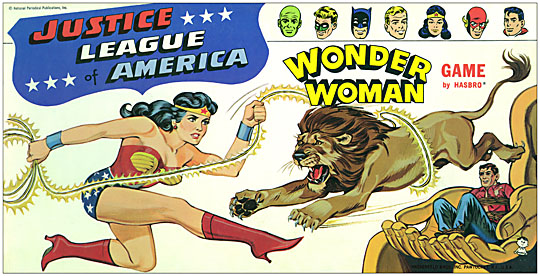 Wonder Woman Justice League of America 1966 Board Game Box