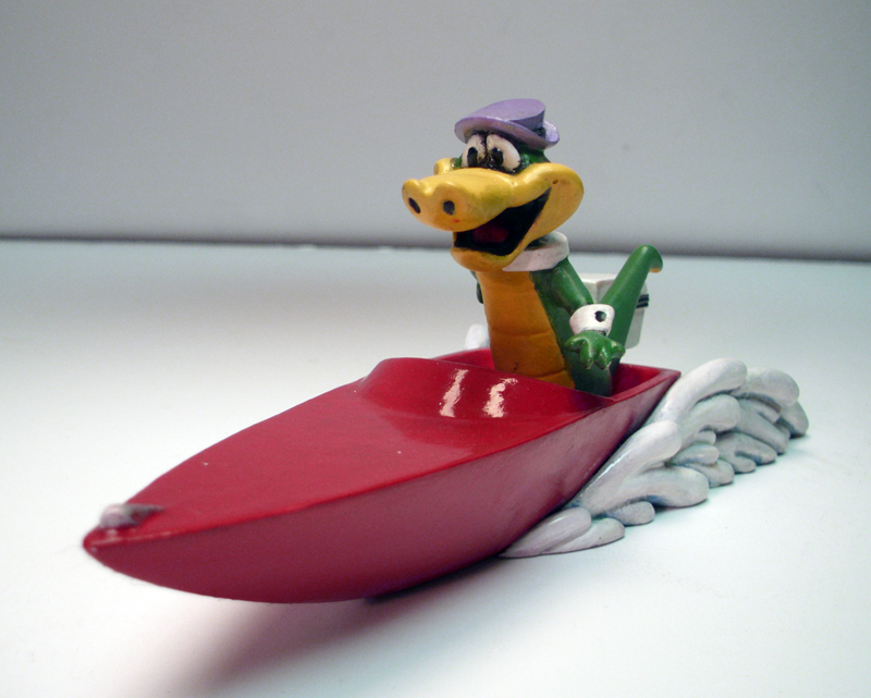 Wally Gator In Boat Model Kit