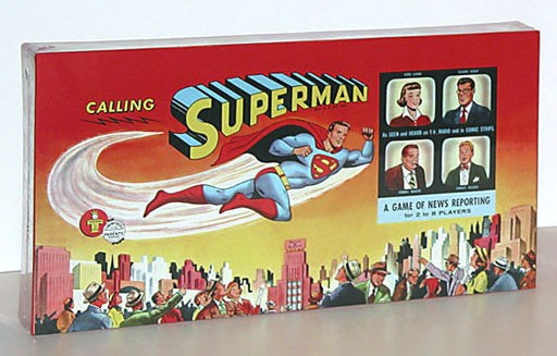 1954 Calling Superman Game Box Reproduction