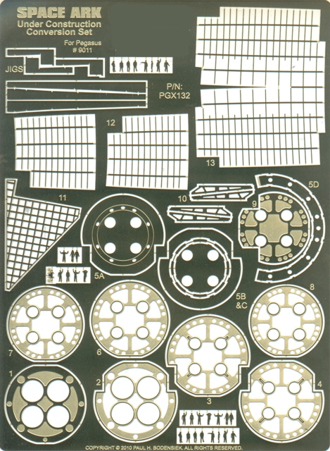 When Worlds Collide Space Ark Plastic Model Kit Photoetch Set