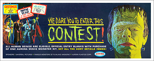 Aurora Monster Contest Banner 12X30 Reproduction Poster
