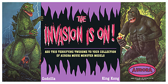 Aurora INVASION IS ON Store Banner 12X24 Reproduction Poster