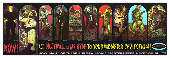 Aurora Monster Retail Store Banner 12X35 Reproduction Poster