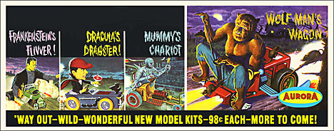 Aurora WAY OUT Monster Kit Banner 9X23 Reproduction Poster - Click Image to Close