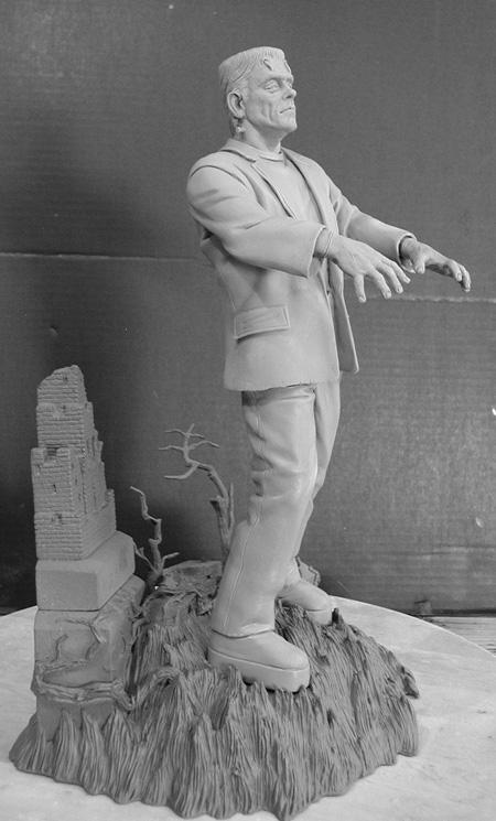 Frankenstein Aurora Box Art Tribute Model Kit #8 Jeff Yagher