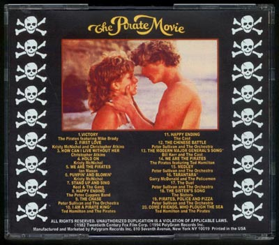 Pirate Movie, The Soundtrack CD Kristy McNichol - Click Image to Close