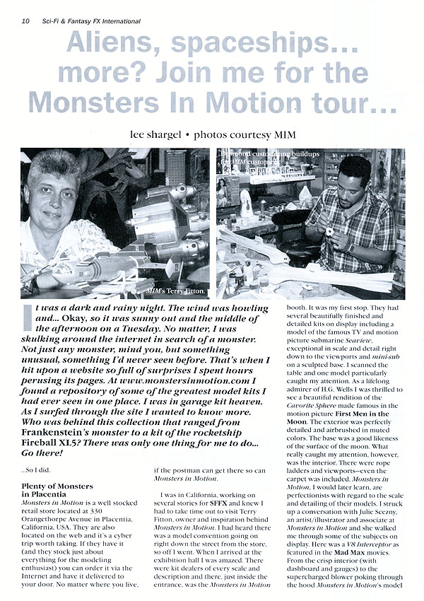PRESS : Monsters in Motion, Movie, TV Collectibles, Model ...