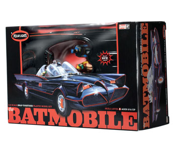 Batman 1966 TV Batmobile Polar Lights Snap Fit Model Kit