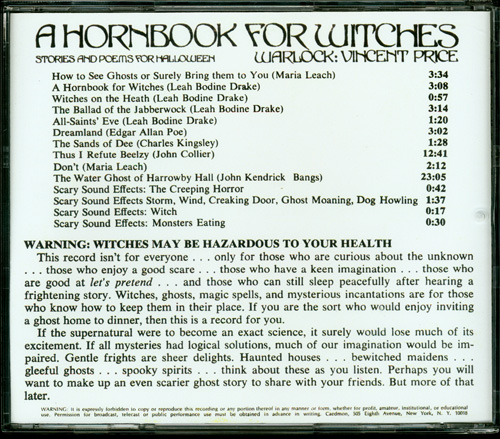 Hornbook for Witches, A Vincent Price Soundtrack CD