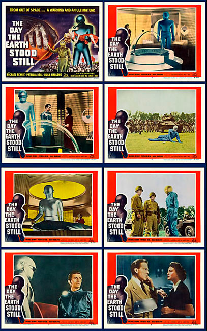 Day The Earth Stood Still 1951 Lobby Card Set (11 X 14)