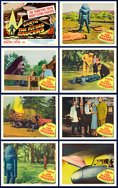 Earth VS The Flying Saucers 1956 Lobby Card Set (11 X 14)