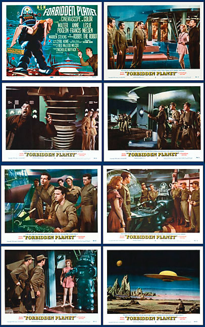 Forbidden Planet 1956 Lobby Card Set (11 X 14)
