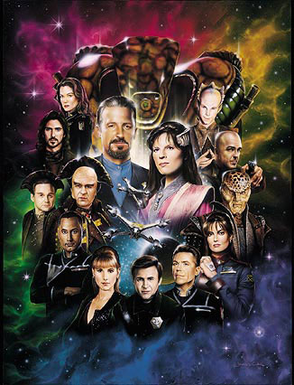 Babylon 5 Lithograph Artwork Signed Bruce Boxleitner