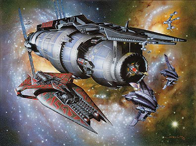 Babylon 5 Last Best Hope Lithograph Artwork