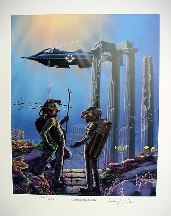 20,000 Leagues Under The Sea Contemplating Atlantis Print
