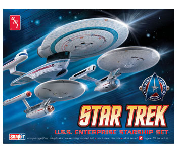 Star Trek Enterprise 3 Ship Set Snap Model Kit 1/2500