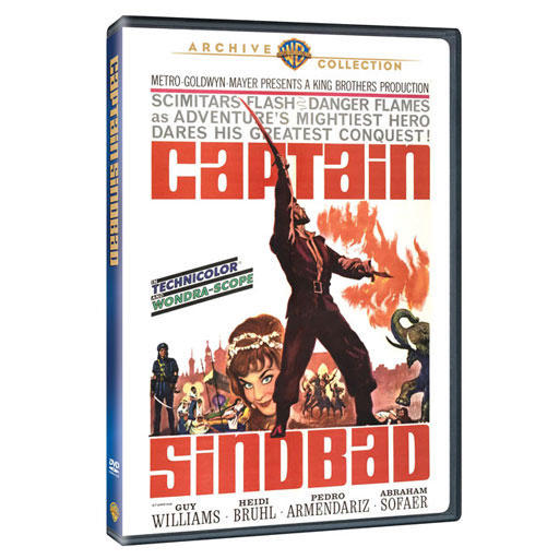 Captain Sinbad 1963 DVD