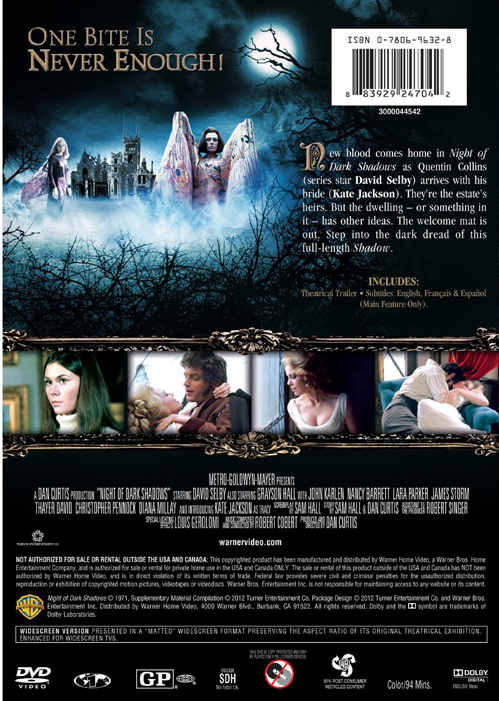Night of Dark Shadows DVD