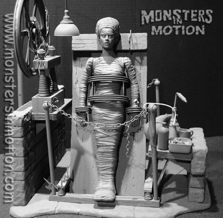 Bride of Frankenstein Aurora Box Art Tribute Model Kit #5