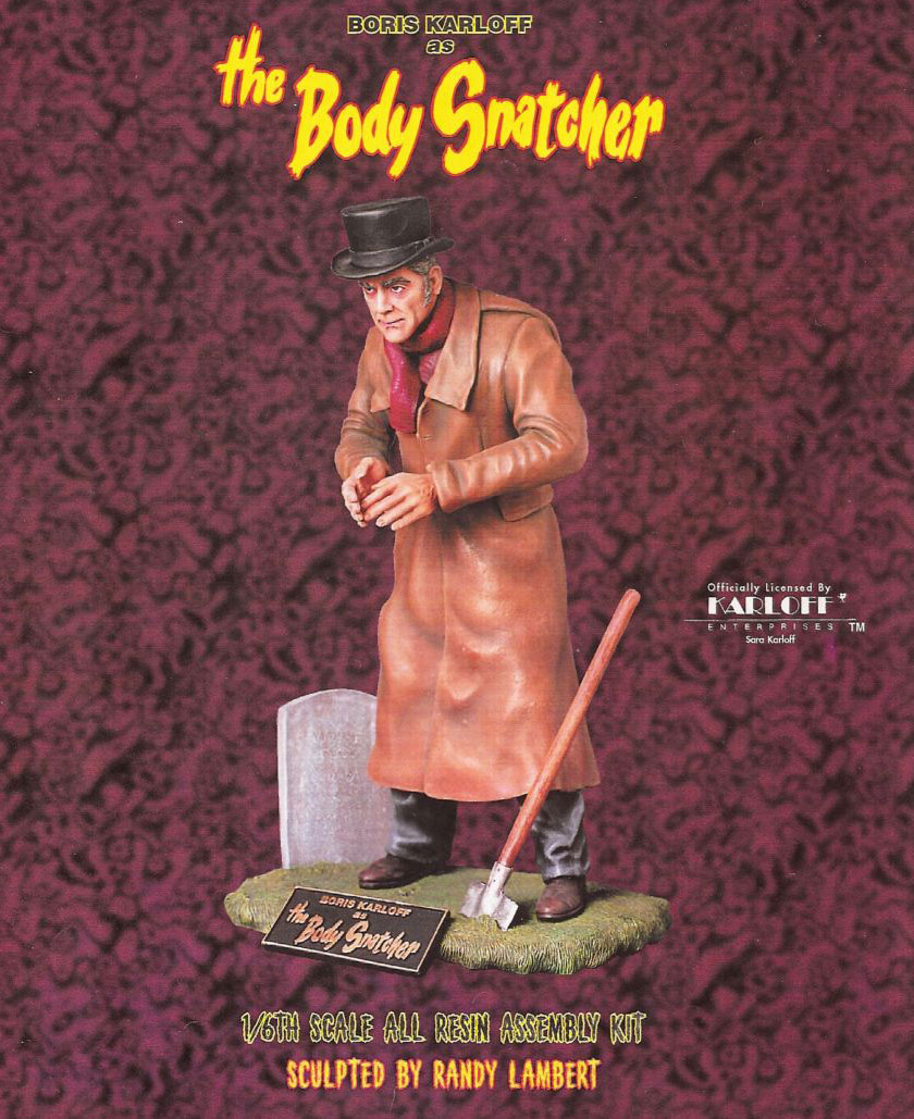 Body Snatcher Boris Karloff Coachman Grey Model Resin Kit