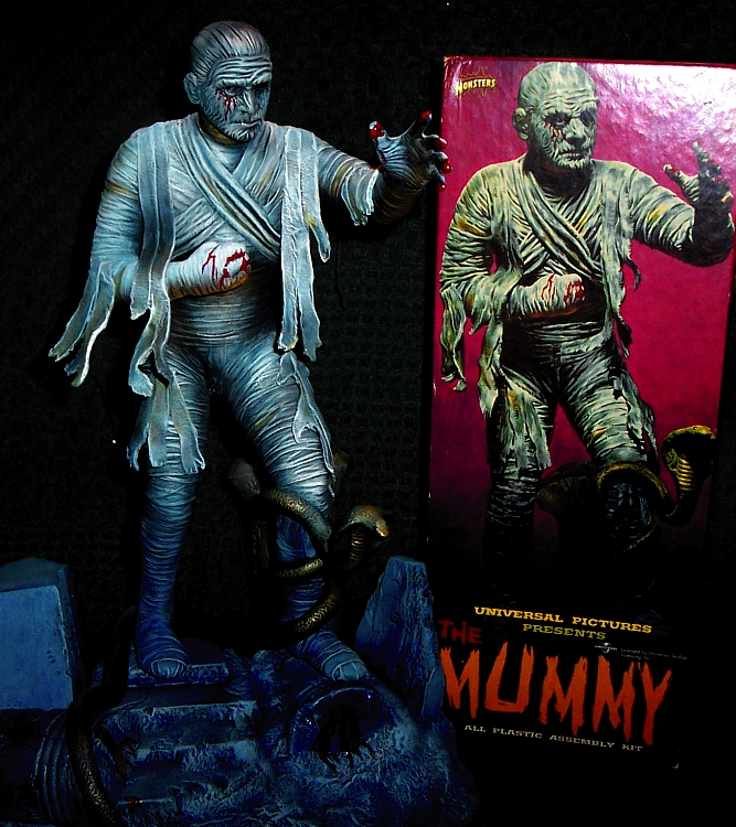 Mummy Aurora Box Art Tribute Model Kit #7 Jeff Yagher