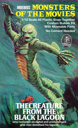 Creature From The Black Lagoon Aurora Monsters of the Movies Model Kit