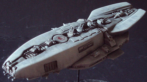 Battlestar Galactica 2003 Cygnus MK II Heavy Escort Ship 1:3700 Scale Resin Model Kit