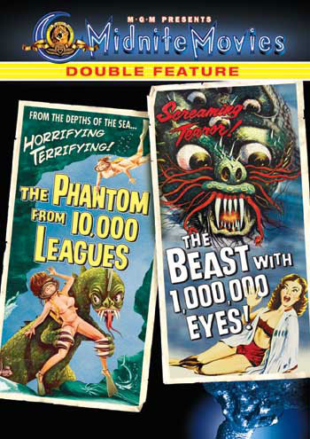 Phantom From 10,000 Leagues & Beast with 1,000,000 Eyes DVD Midn