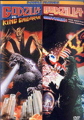 Godzilla Vs Mothra Battle For Earth & Vs King Ghidorah DVD