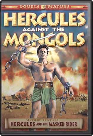 Hercules Double Feature: Hercules Against the Mongols 1963 / Hercules and the Masked Rider 1964 DVD