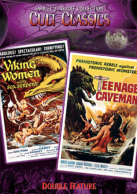 Viking Women & The Sea Serpent/Teenage Caveman Double Feature DV