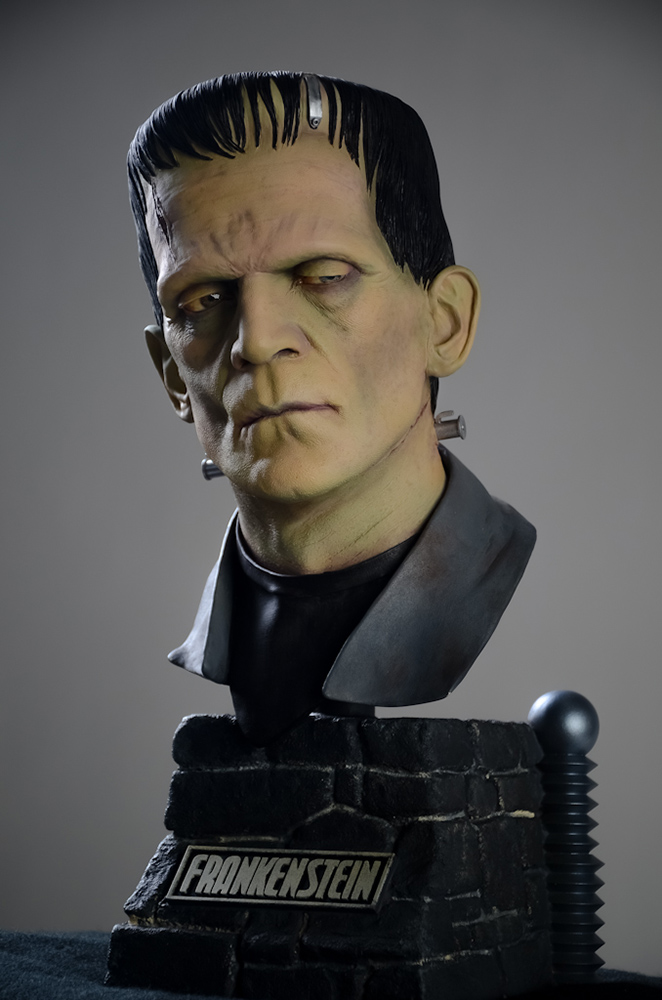 Frankenstein 18 Inch 1/2 Scale Big Head Bust Model Kit Jeff Yagher