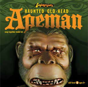 FUNDIMENSIONS Haunted Glow Head Ape Man Model Kit