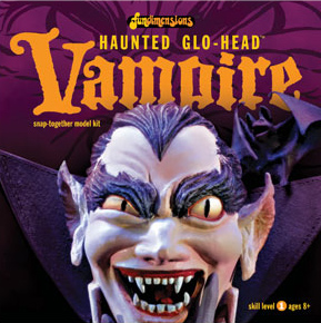FUNDIMENSIONS Haunted Glow Head Vampire Model Kit