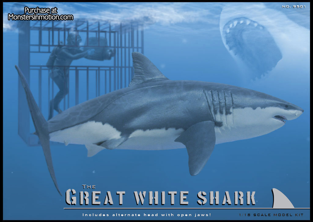 Great White Shark 1:18 Model Kit