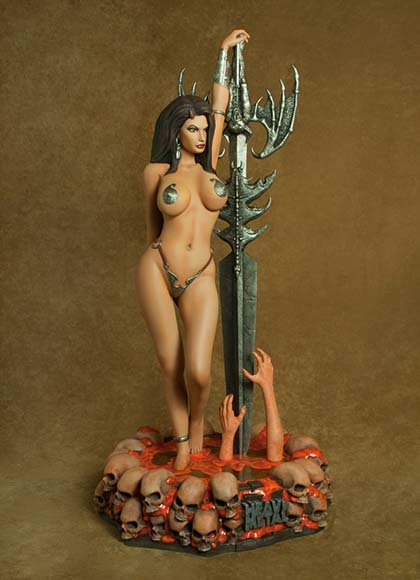 Heavy Metal Magazine Guardian Girl 1/4 Scale Statue Simon Bisley