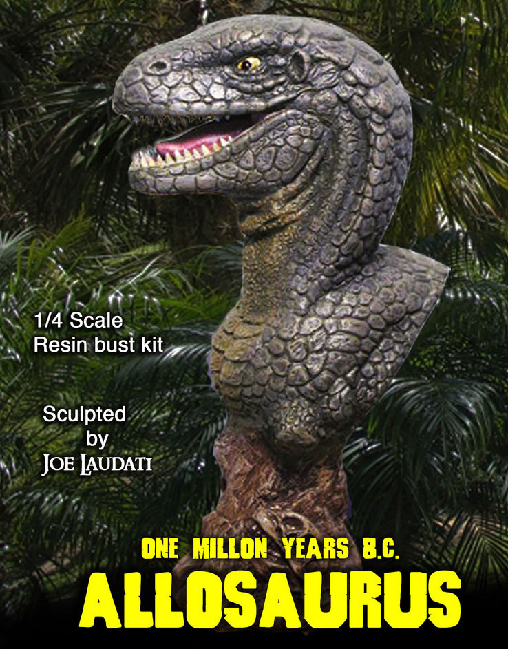 One Million Years B.C. Allosaurus 1/4 Resin Bust Model Assembly