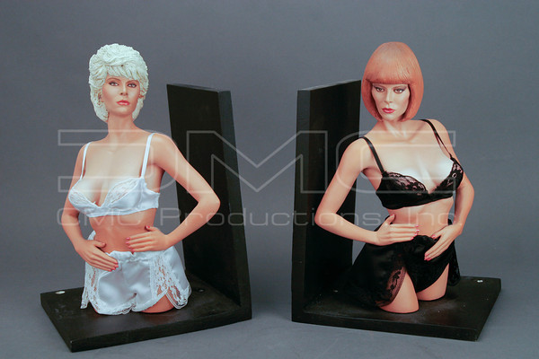 Seka as Jane Smith and Molly Flame Bookend Statues