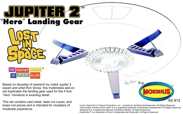 "Lost In Space Jupiter 2 II 18"" Hero Landing Gear Model Kit"