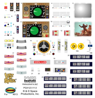 "Lost In Space Jupiter 2 II 18"" Stock Interior Model Decal Set"