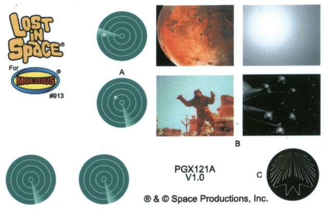 "Lost In Space Jupiter 2 II 18"" Photoetch & Decal Set Model Kit"